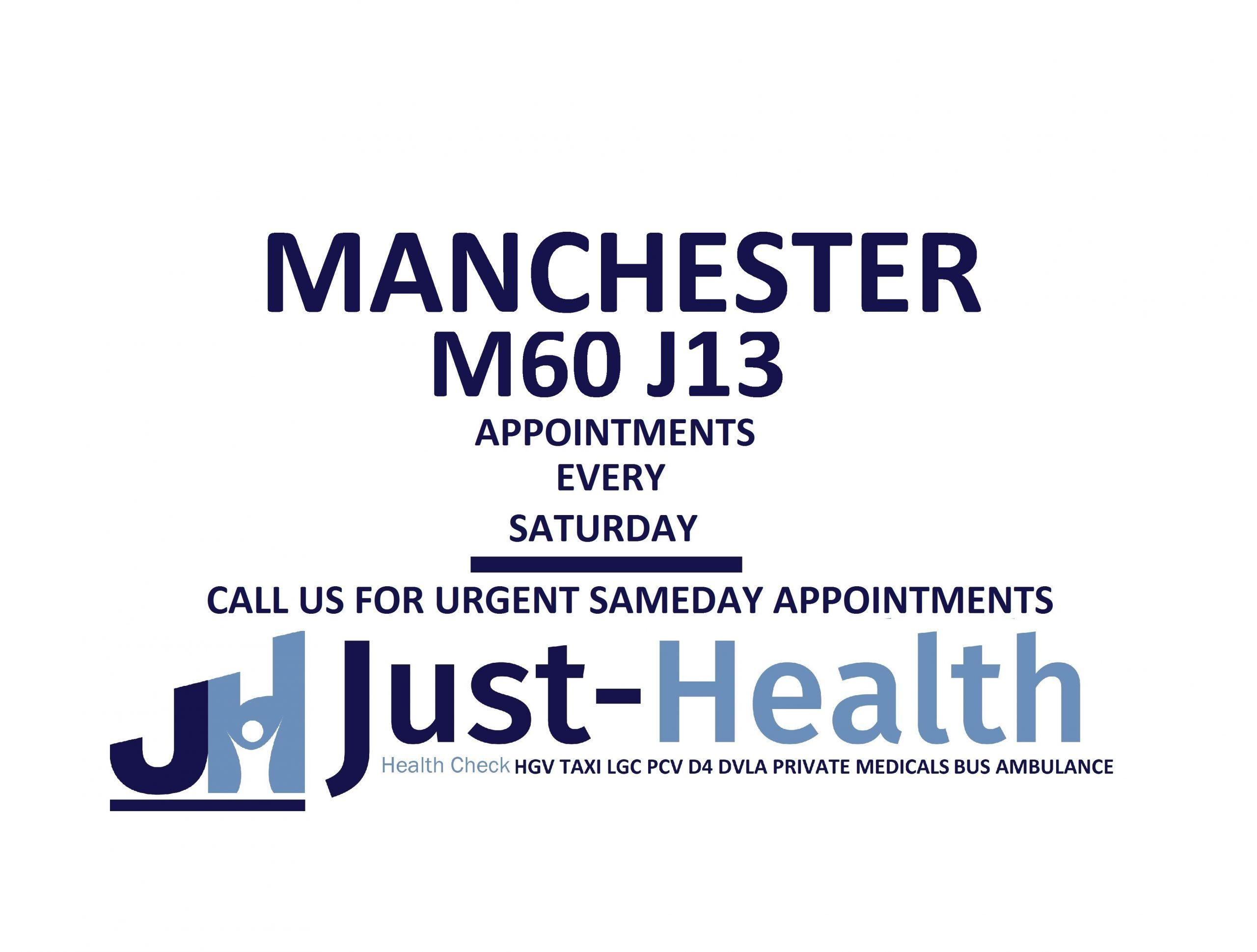 d4 PSV LGV Taxi Pcv HGV medical just health clinic Manchester Sale altrincham Worsley middleton longsight prestwich
