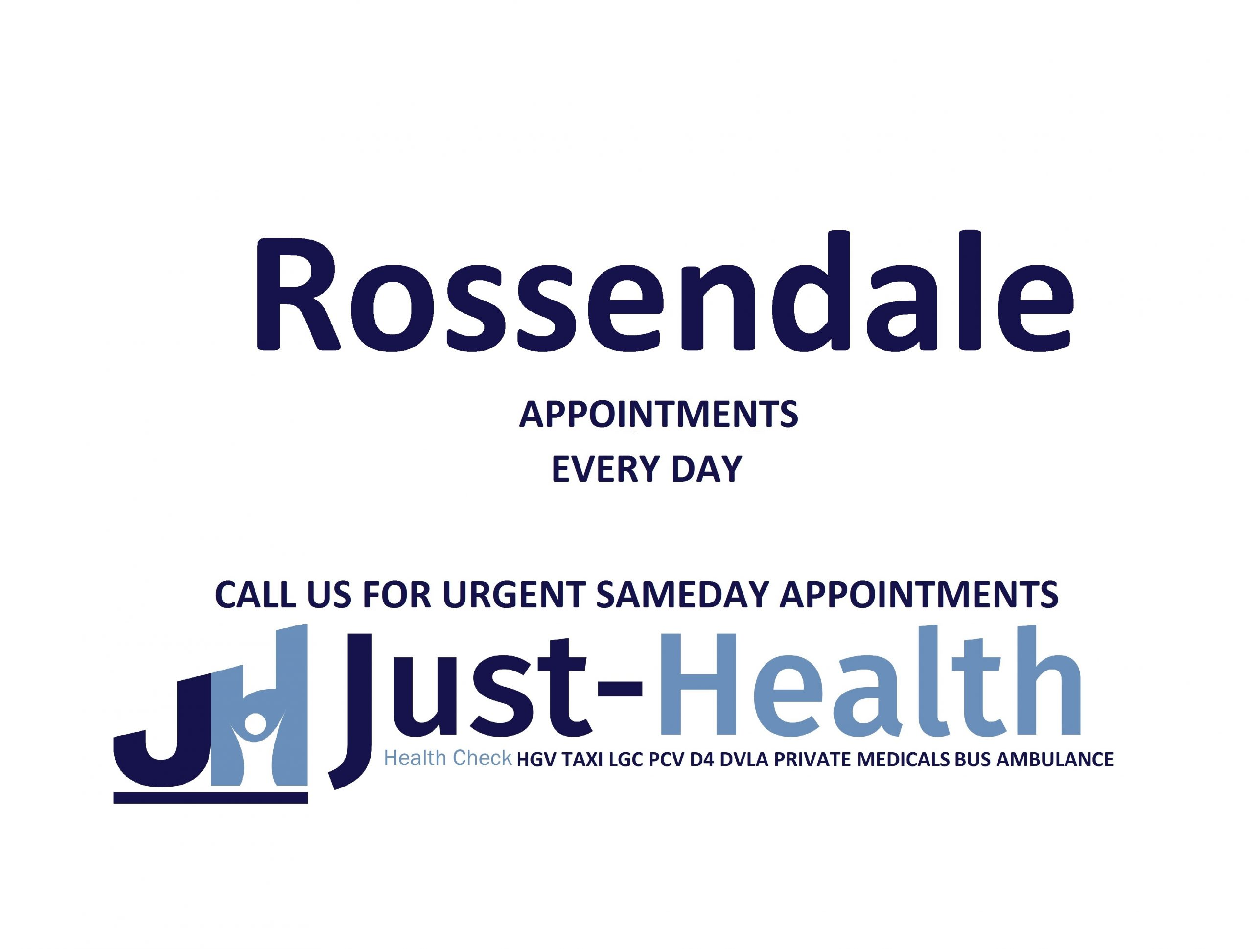 d4 PSV LGV Taxi Pcv HGV medical just health clinic rossendale lancashire burnley haslingden