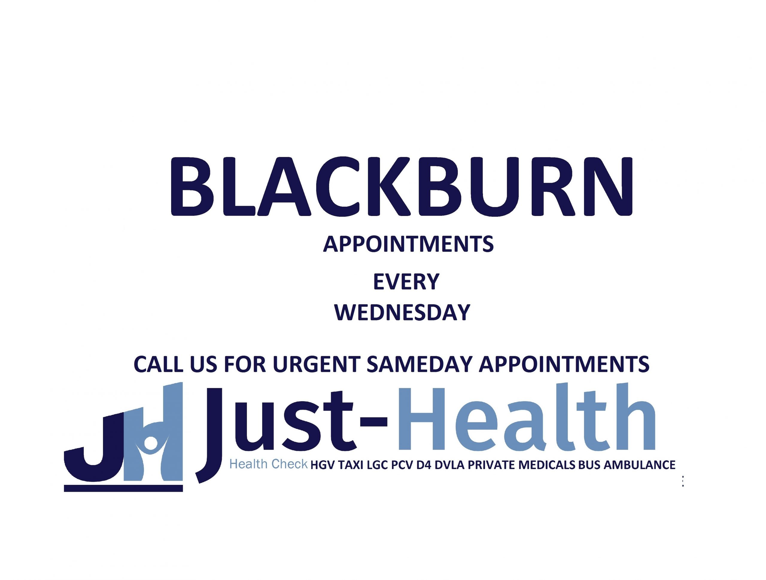 d4 PSV LGV Taxi Pcv HGV medical just health clinicblackburn blackpool fylde lancashire lancaster preston bamber bridge clitheroe