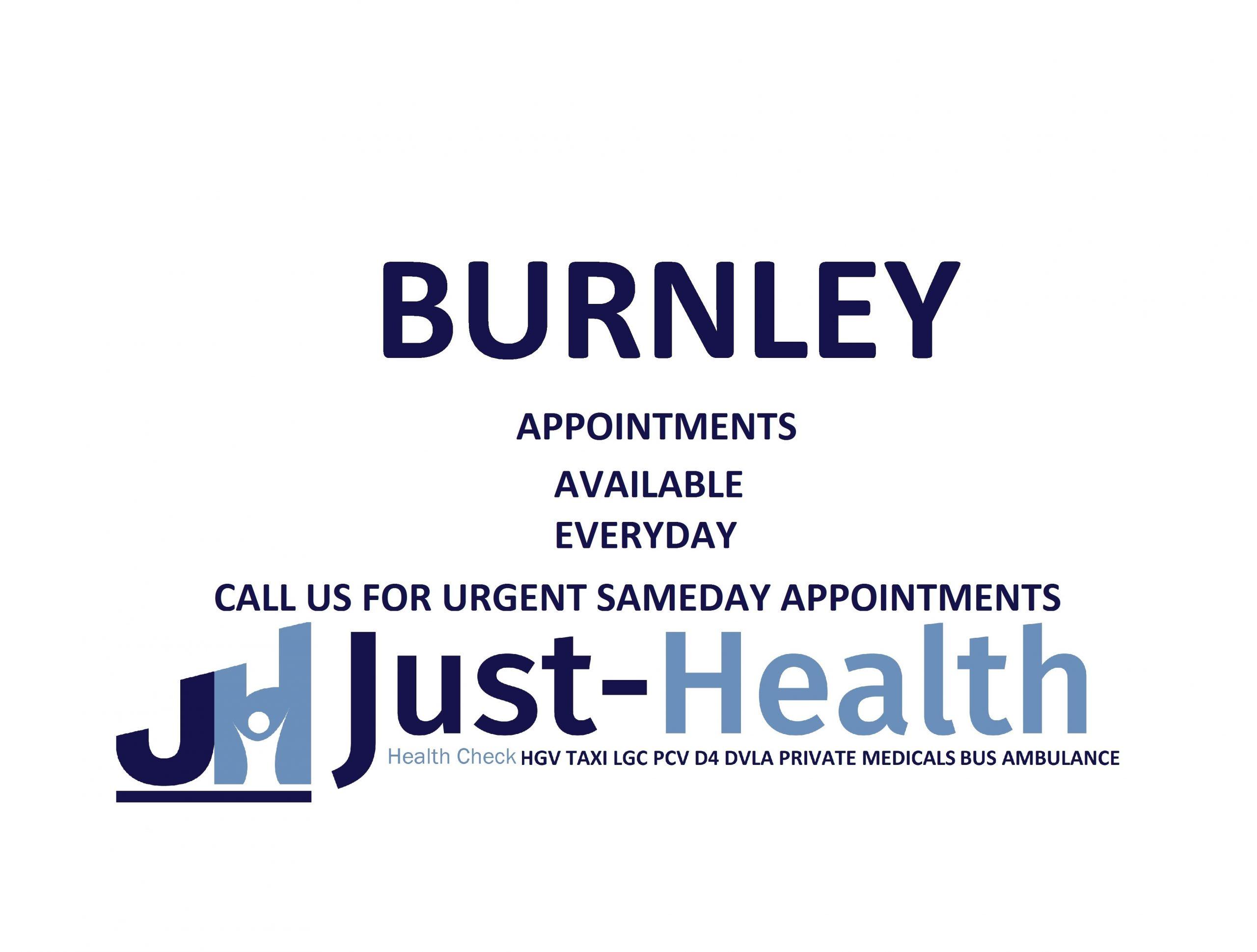 BURNLEY hgv medical just health lancashire preston blackburn