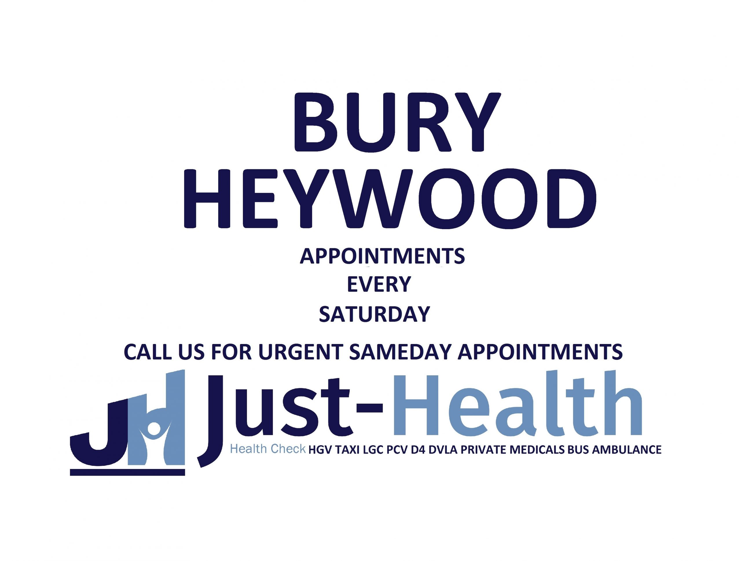 BURY hgv medical heywood just health manchester