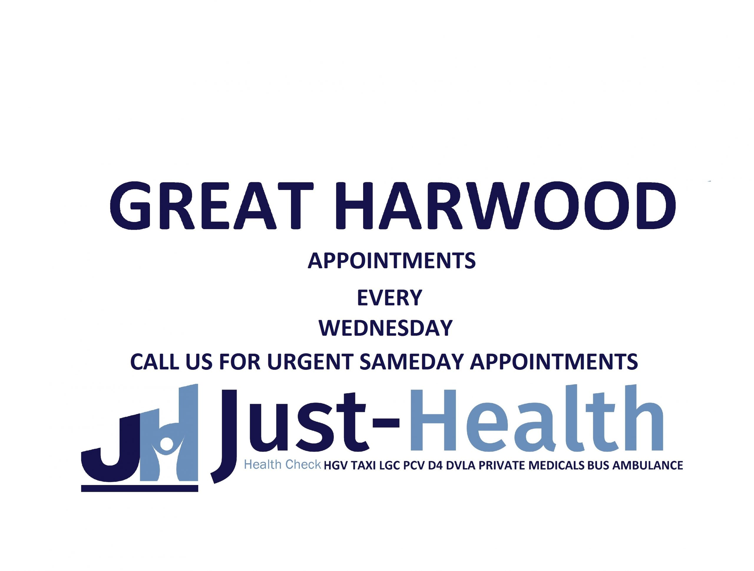 great harwood blackburn just health D4 HGV Medical £50 includes eye test, GMC Registered Doctors Nationwide clinics, Open 7 days a week near you Book online 24-7 Burnley