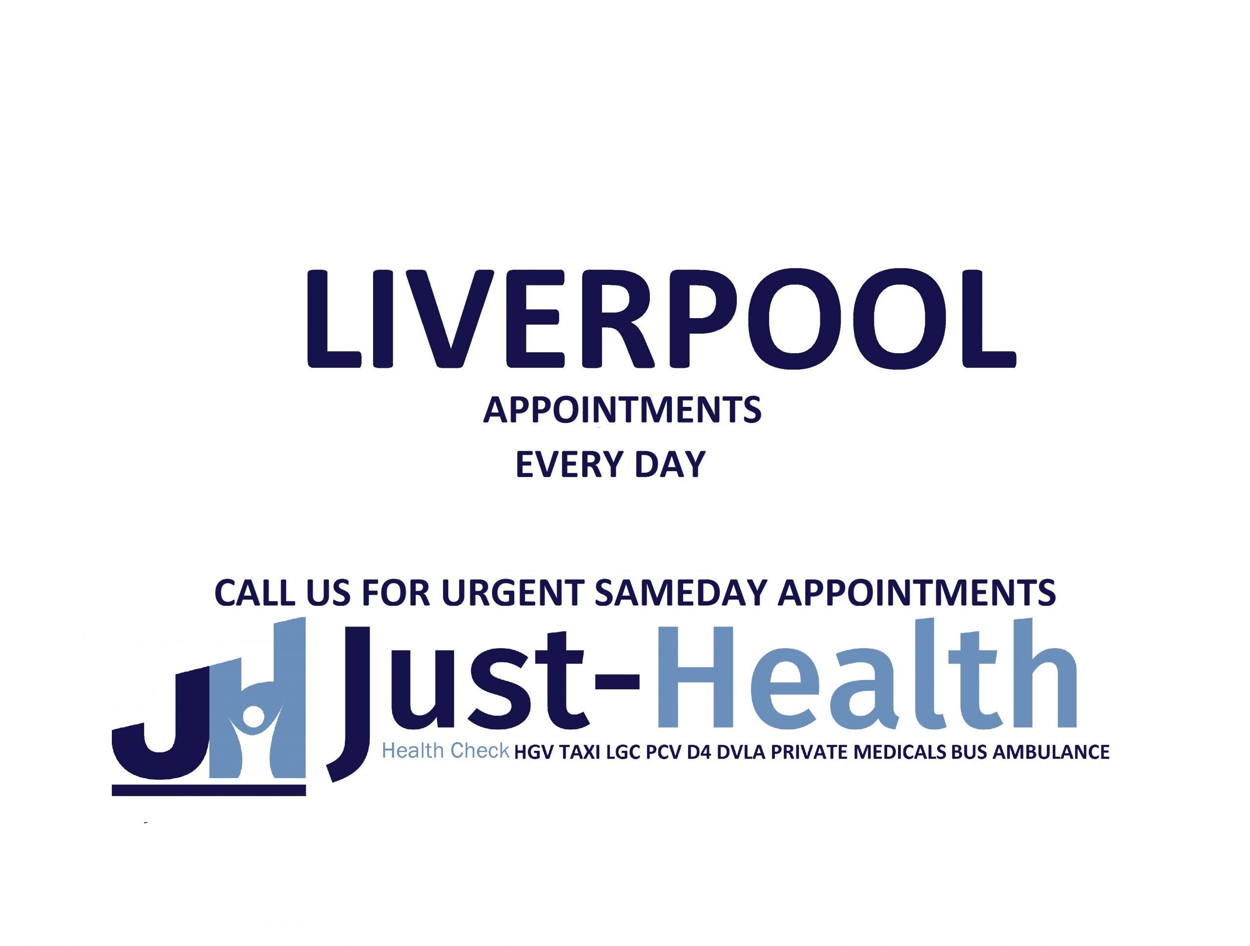 d4 PSV LGV Taxi Pcv HGV medical just health clinic Liverpool merseyside docks birkenhead wallasey wirral