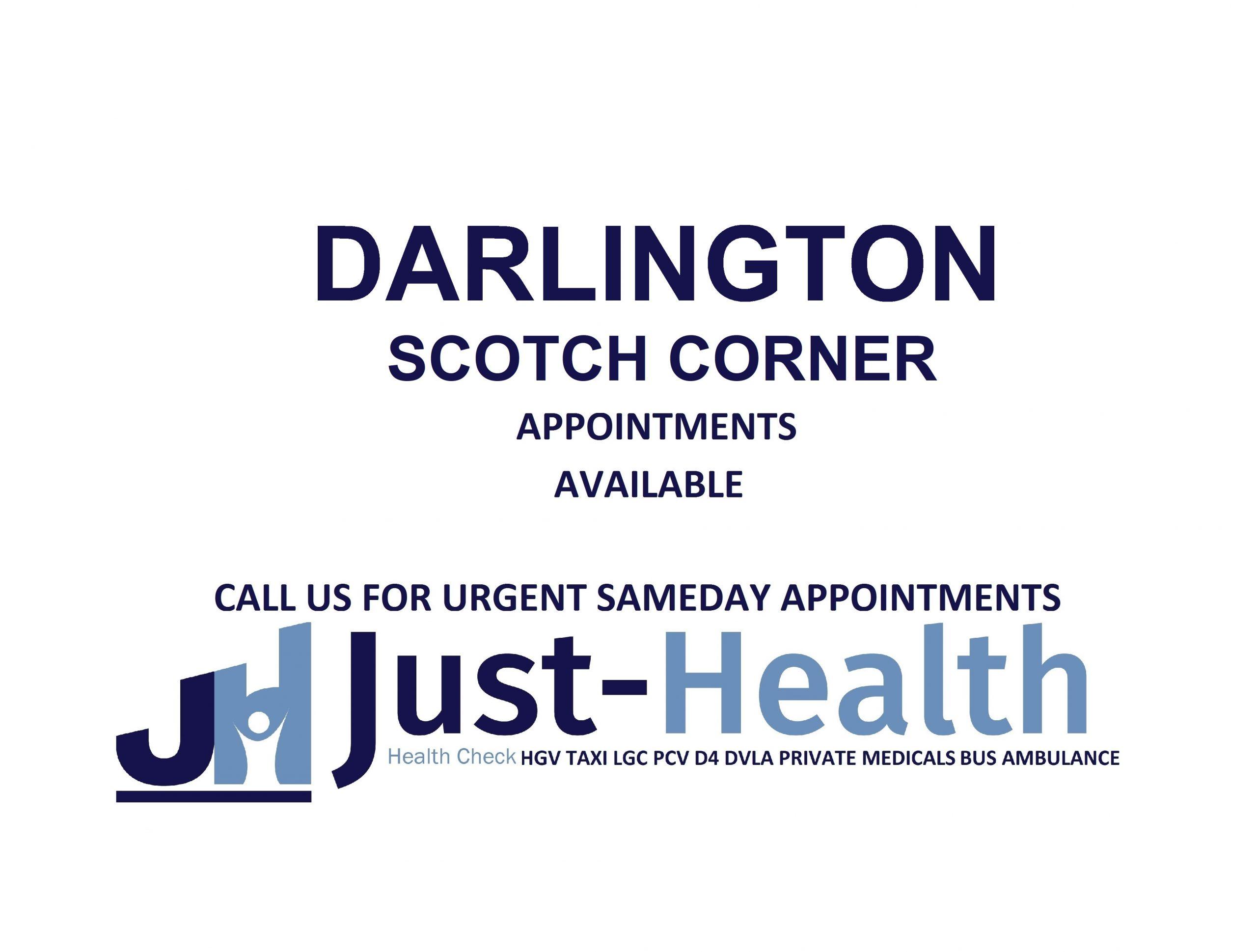 D4 Driver medicals hgv pcv c1 Darlington