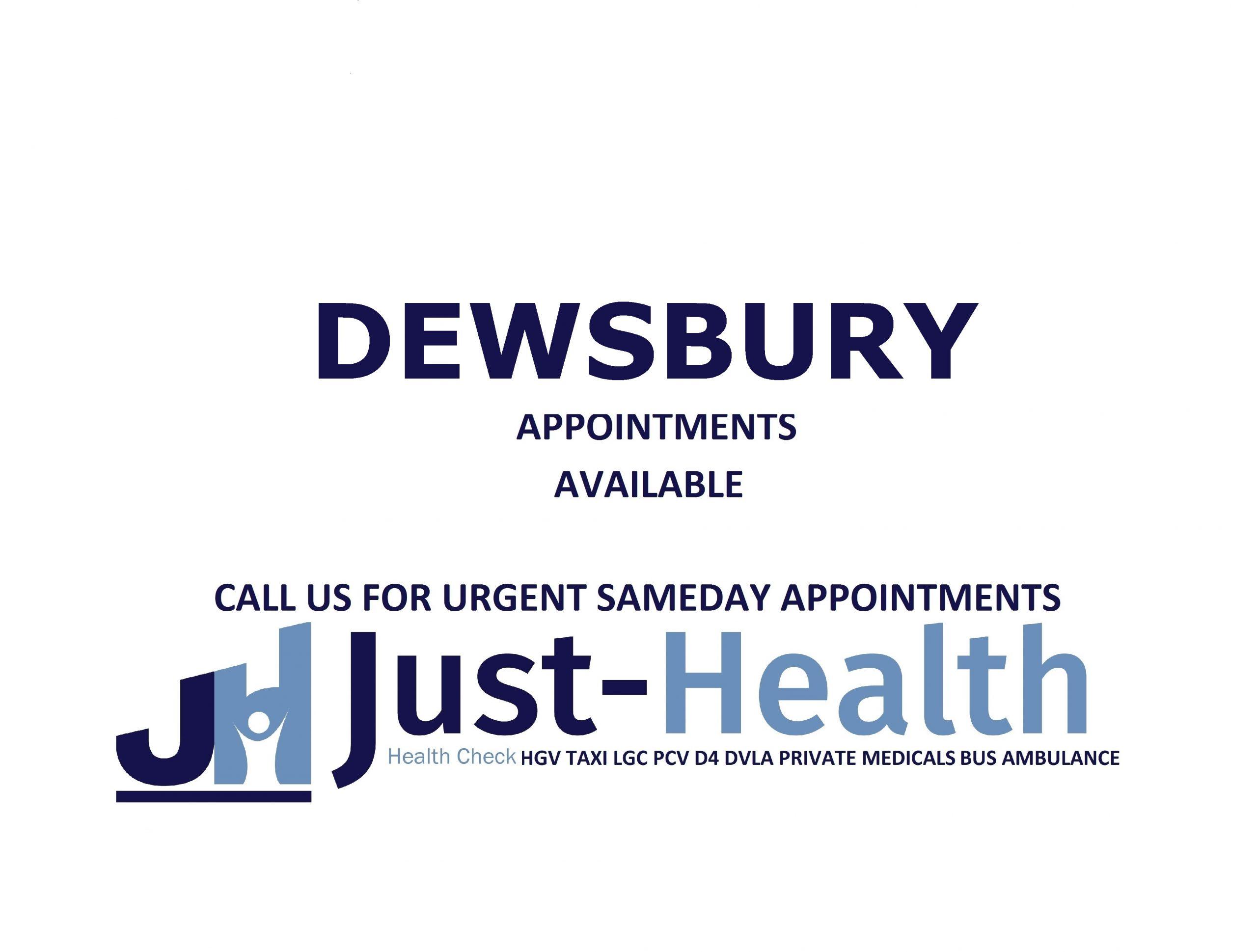 Dewsbury D4 Driver hgv Medicals
