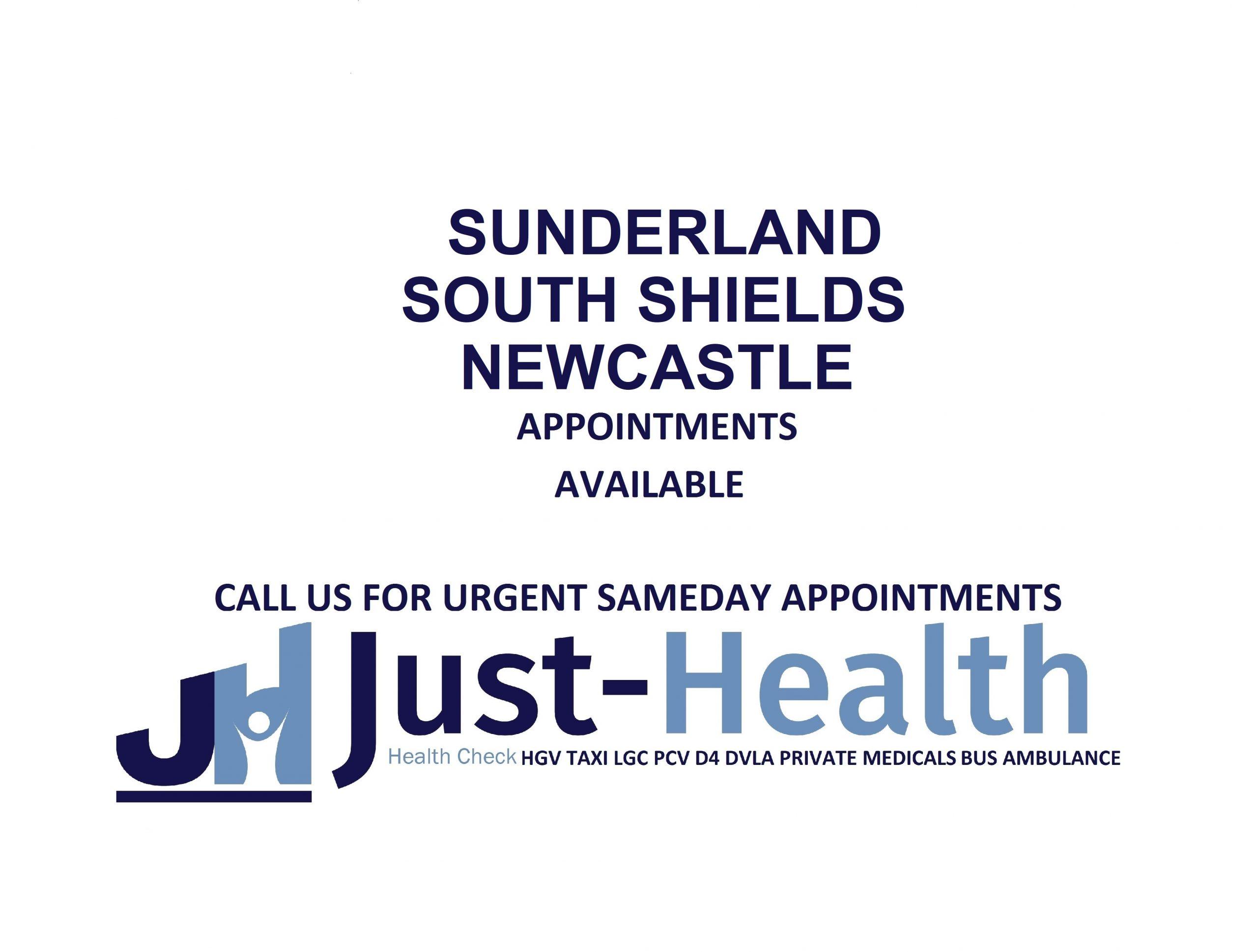 Sunderland South Shields Newcastle D4 Driver medicals hgv pcv c1